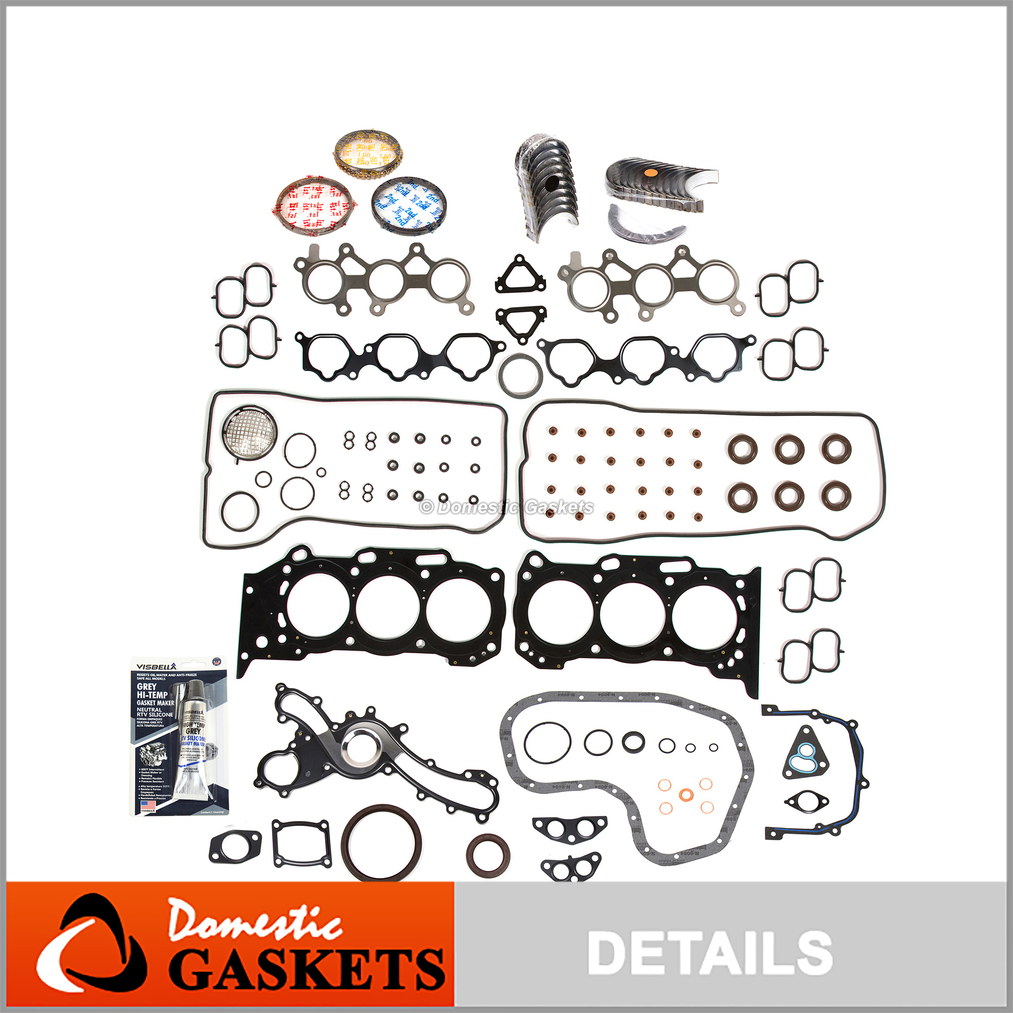 05-16 Toyota Avalon Camry Lexus 3.5L Full Gasket Pistons/&Bearing/&Rings Set 2GRFE