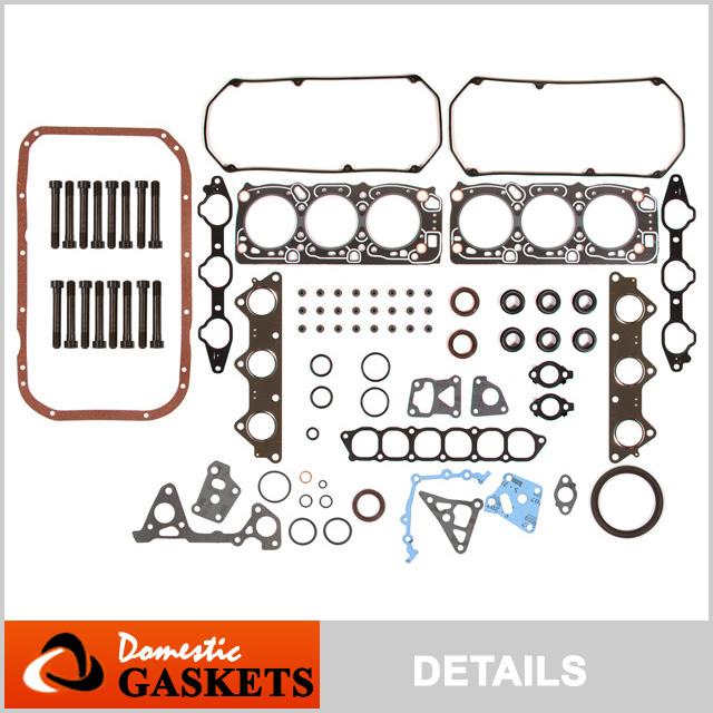 Fits 95-96 Mitsubishi Montero 97-98 Sport 3.0L SOHC Full Gasket Set Bolts 6G72