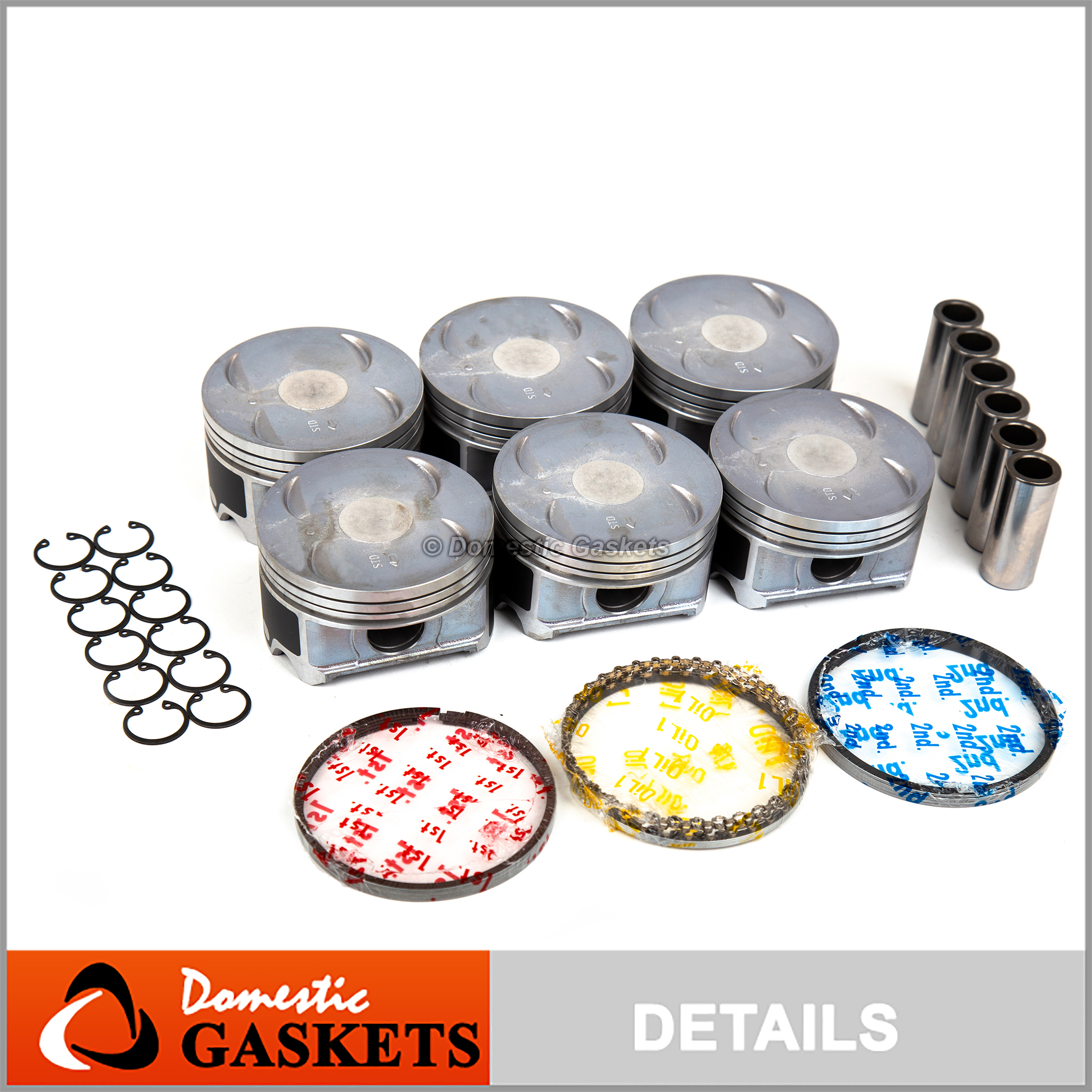 Fit 03-10 Honda Odyssey Pilot Acura MDX Saturn Vue Piston Set with Rings J35A4