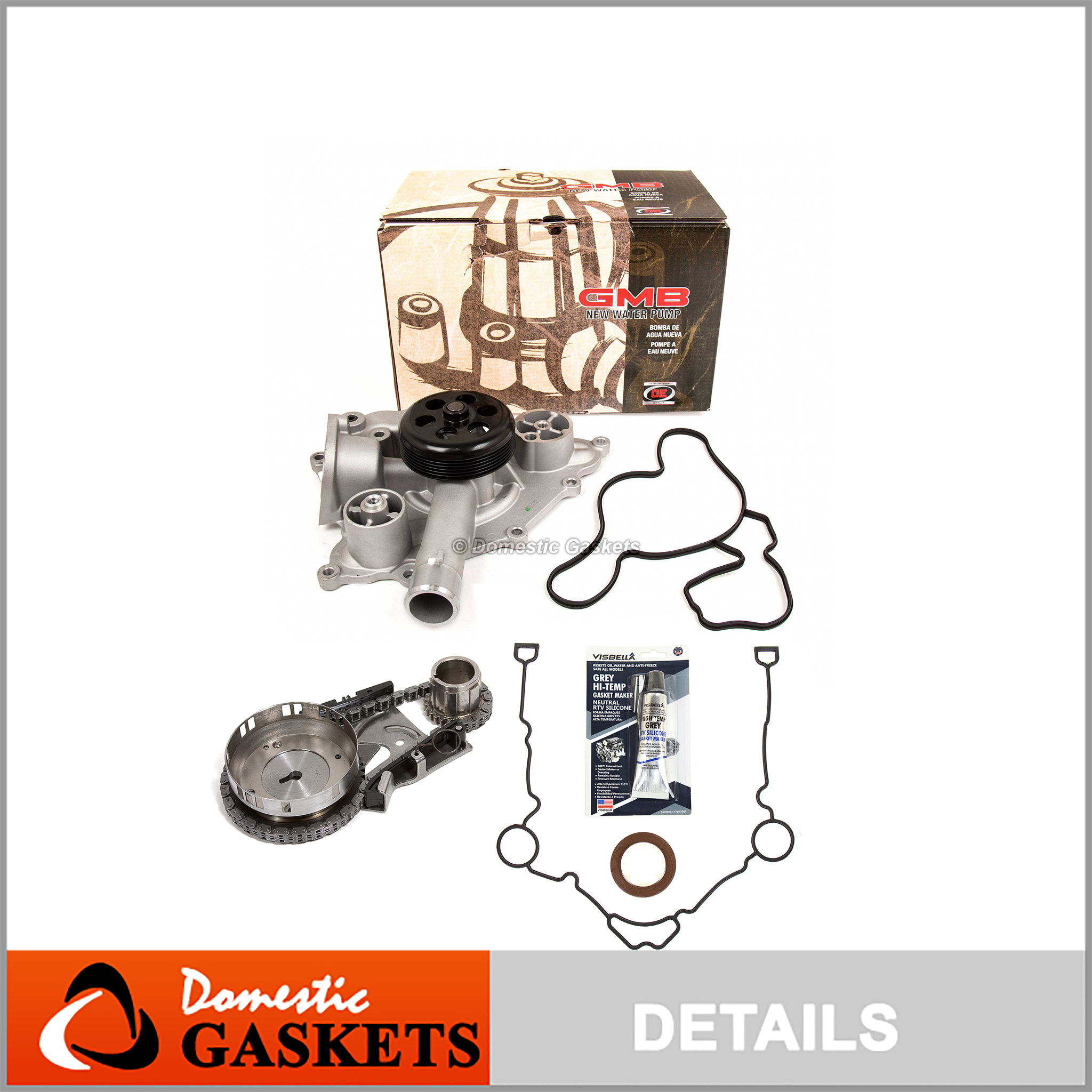 Timing Chain Kit Water Oil Pump Cover Gasket for 05-08 Chrysler Dodge Jeep 5.7