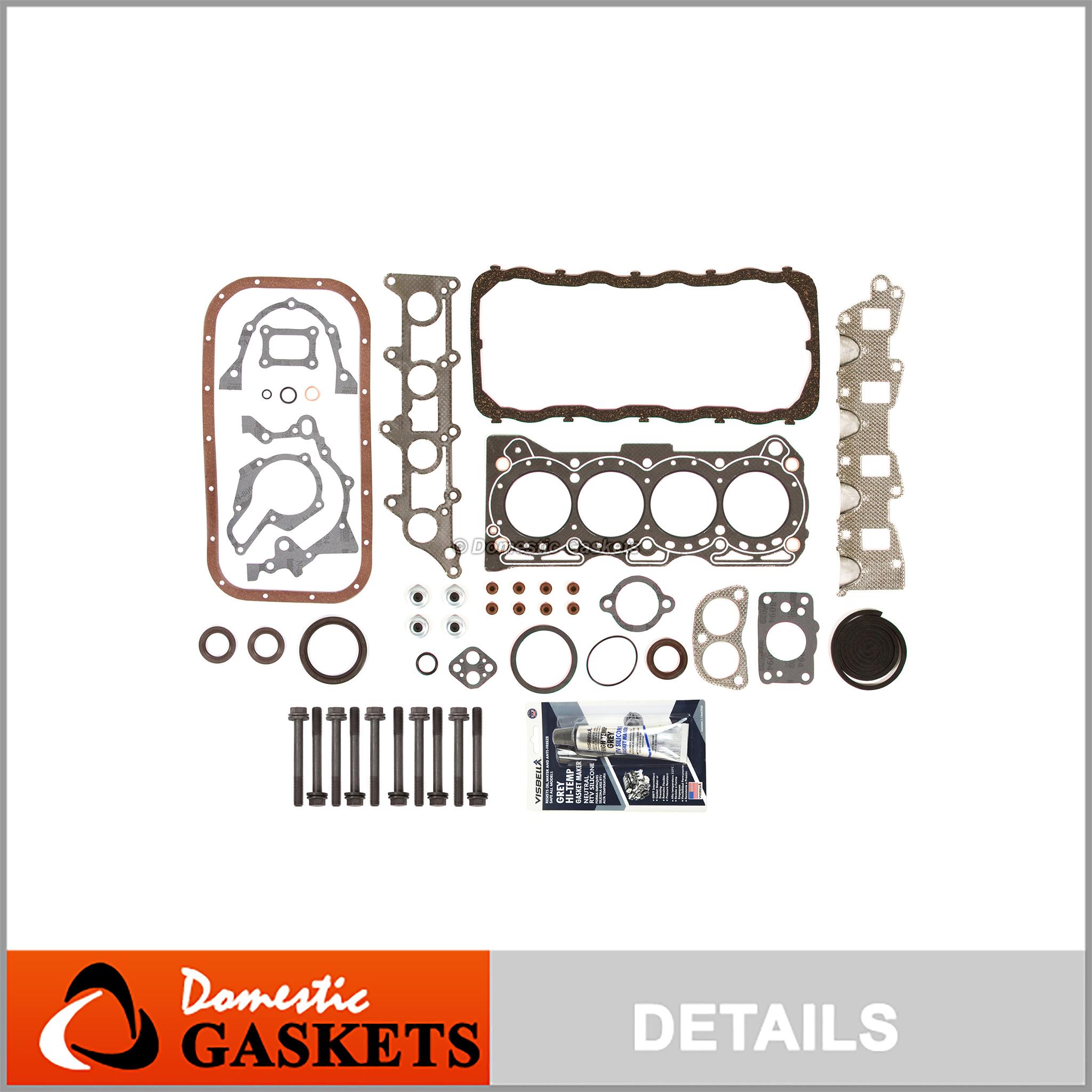 Head Gasket Set Bolts Fits 89-95 Geo Tracker Suzuki Sidekick 1.6L SOHC 8v G16KC