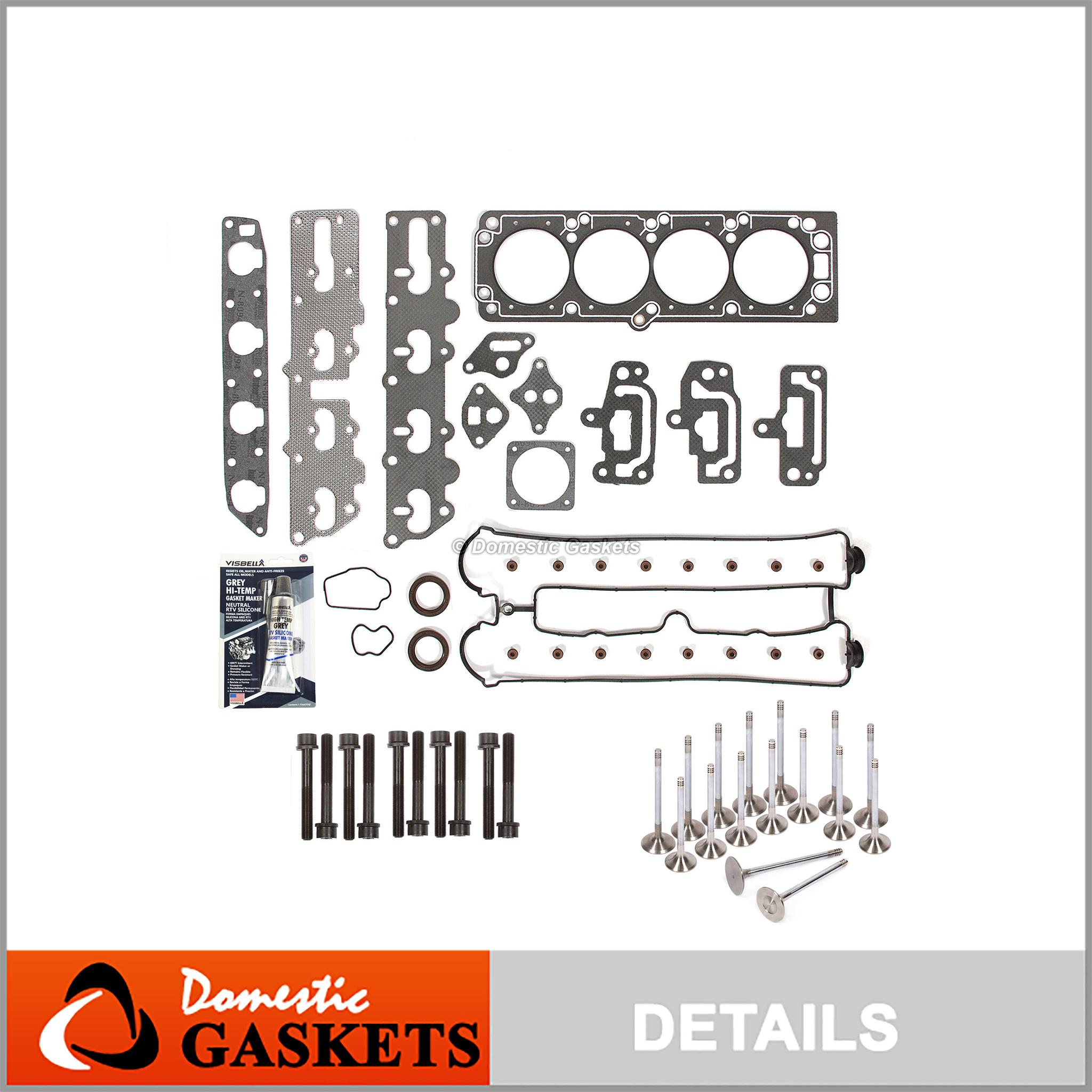 Head Gasket Set Bolts Fits 98-03 Daewoo Isuzu 2.0L 2.2L DOHC X22SE X20SE A20DMS