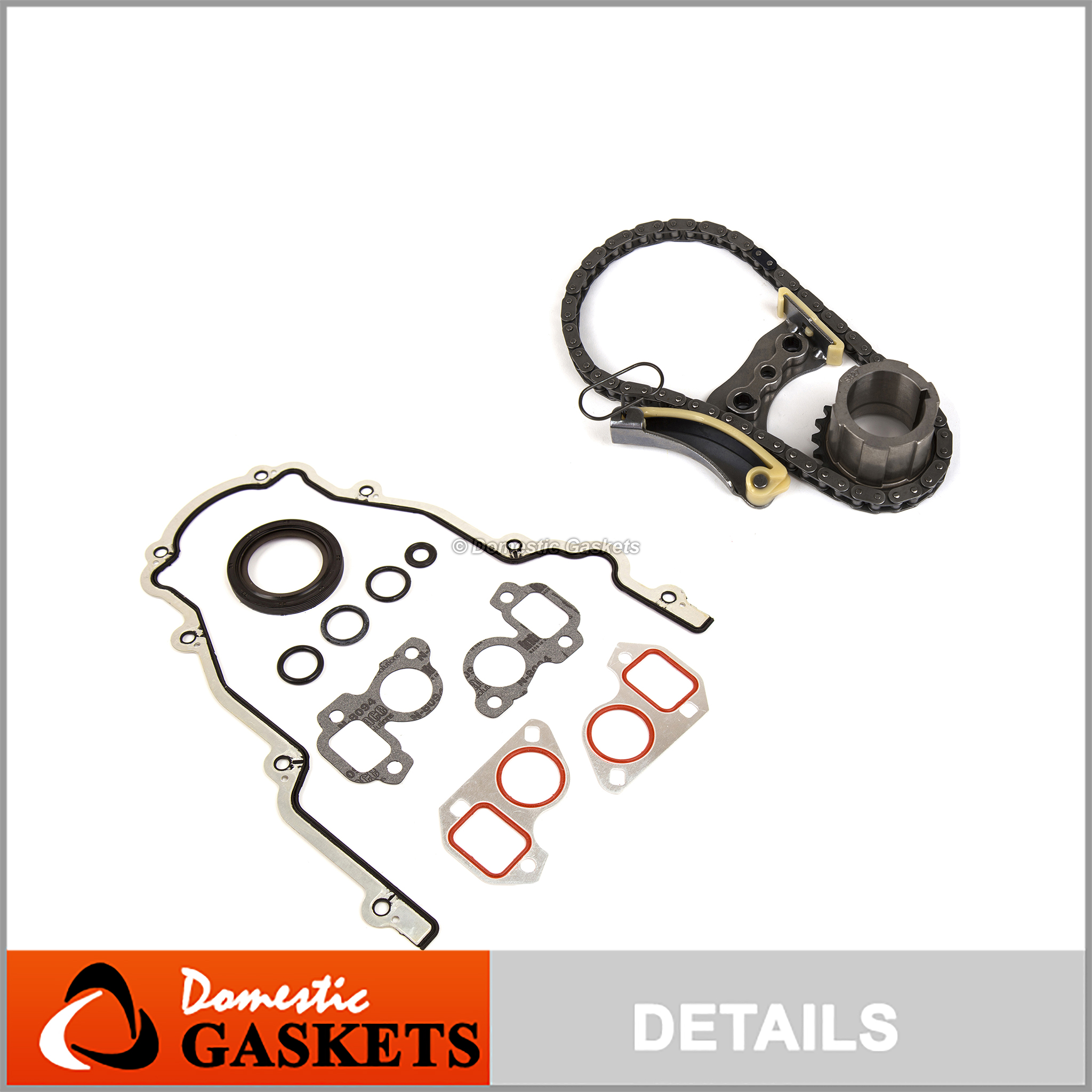 Timing Chain Kit Cover Gasket for 07-13 Buick Cadillac Chevrolet GMC 5.3 6.0 6.2