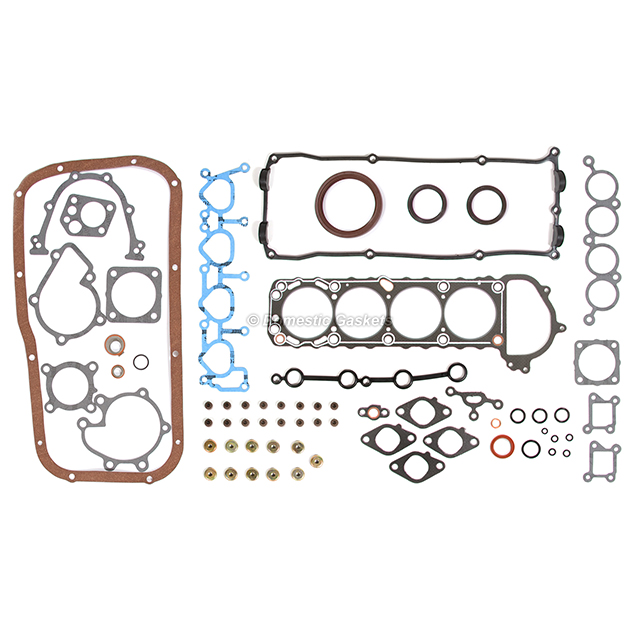 Fits 95-98 Nissan 240SX 2.4L DOHC Full Gasket Pistons Bearings Rings Set KA24DE