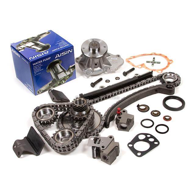 Timing Chain Kit w//o Gear AISIN Water Pump Fit 91-98 Nissan 240SX DOHC KA24DE
